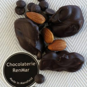 Clusters of Roasted Almonds in Dark Chocolate