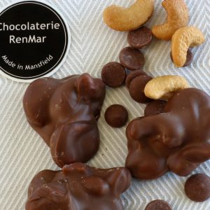 Clusters of Roasted Cashews in Milk Chocolate