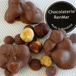 Clusters of Roasted Hazelnuts in Milk Chocolate