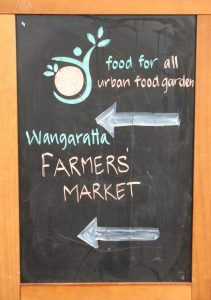 Wangaratta Market Sign